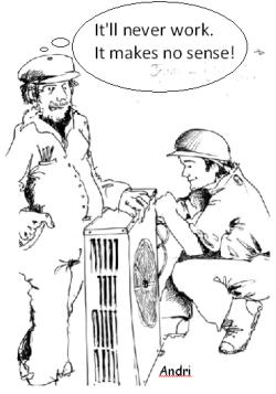 cartoon. heat pumps make no sense.